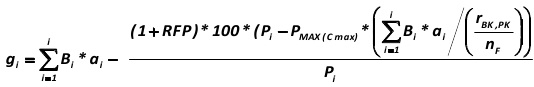 The general mathematical form of the sum of comparable scores reflecting the company's competitiveness in the market and the prospects for change in its position within the market segment (gi) are expressed by the following formula, developed by the author of this paper (41): [Alexander Shemetev]