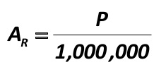 Let your local Population is (P) residents. The number of P can be 100 people, it may be 1000, it may be 2 million, and so on. In order to determine the total capacity of the market in your area, you need to multiply all the obtained figures by the segments correction coefficient, which is calculated by a formula developed by the author of this paper: [Alexander Shemetev]